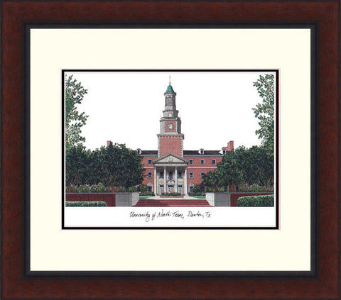 University of North Texas Legacy Alumnus Framed Lithograph