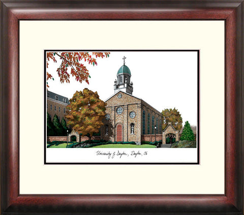 University of Dayton Alumnus Framed Lithograph