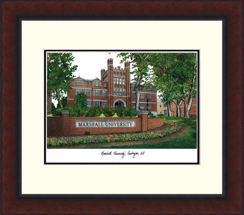 Marshall University Legacy Alumnus Framed Lithograph
