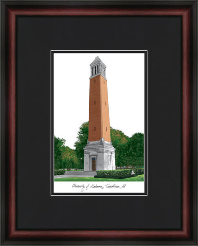 University of Alabama, Tuscaloosa  Academic Framed Lithograph
