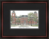 University of Arkansas Academic Framed Lithograph