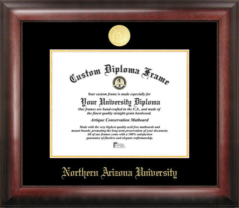 Northern Arizona University 11w x 8.5h Gold Embossed Diploma Frame