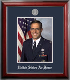 Air Force 8x10 Portrait Classic Black Frame with Silver Medallion