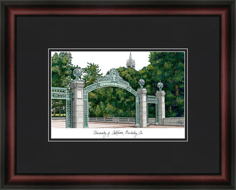 University of California, Berkeley Academic Framed Lithograph