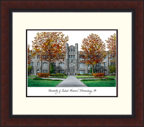 University Central Missouri Legacy Alumnus Framed Lithograph