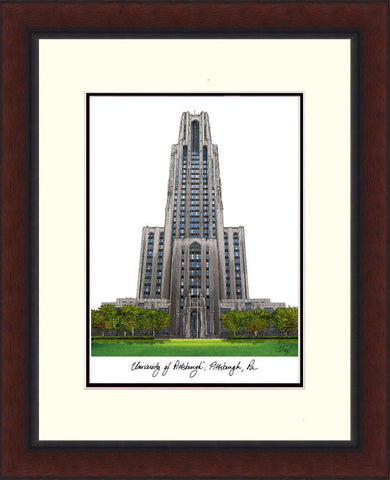 University of Pittsburgh Legacy Alumnus Framed Lithograph