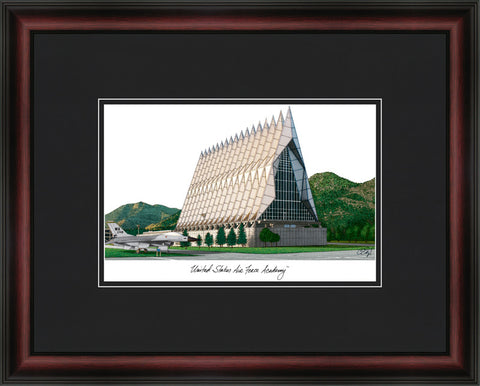 United States Air Force Academy Academic Framed Lithogrpah