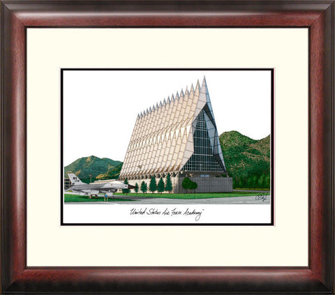 United States Air Force Academy Alumnus Framed Lithograph