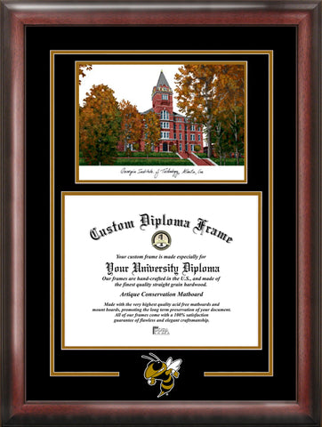 Georgia Institute of Technology Yellow Jackets 17w x 14h Spirit Graduate Frame with Campus Image