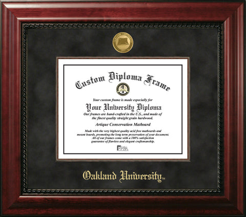 Oakland University 11w x 8.5h  Executive Diploma Frame