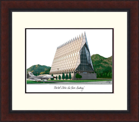 United States Air Force Academy Legacy Alumnus Framed Lithograph