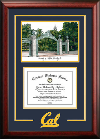University of California, Berkeley 11w x 8.5h Spirit Graduate Frame with Campus Image