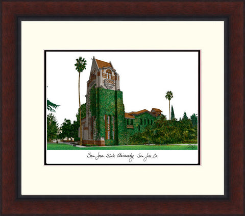 San Jose State University Legacy Alumnus Framed Lithograph