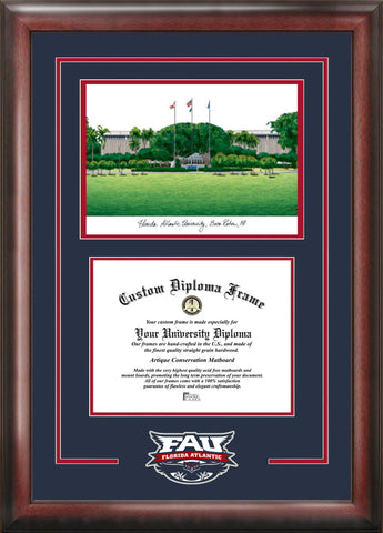 Florida Atlantic University 11w x 8.5h Spirit Graduate Frame