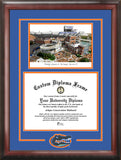 University of Florida 11.5x 16 Spirit Graduate Frame with Campus Image