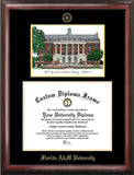 Florida A&M University 11w x 8.5h Gold Embossed Diploma Frame with Campus Images Lithograph