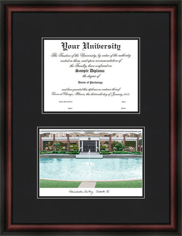University of Central Florida 11w x 8.5h Diplomate Diploma Frame