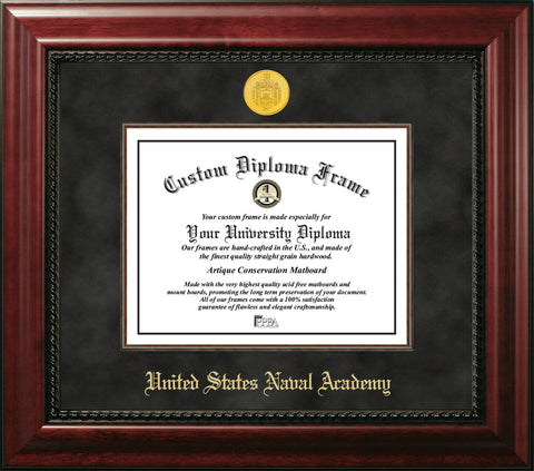 United States Naval Academy 10 w x 14 h Executive Diploma Frame