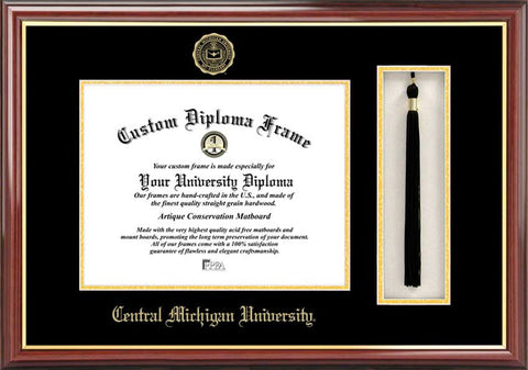 Central Michigan University 11w x 8.5h Tassel Box and Diploma Frame