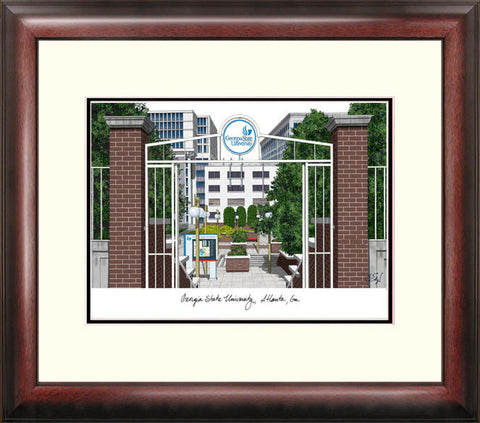 Georgia State University Alumnus Framed Lithograph
