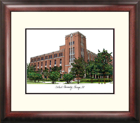 DePaul University Alumnus Framed Lithograph
