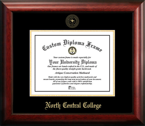 North Central College 11w x 8.5h Gold Embossed Diploma Frame