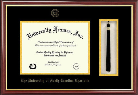 University of North Carolina, Charlotte 14w x 11h Tassel Box and Diploma Frame