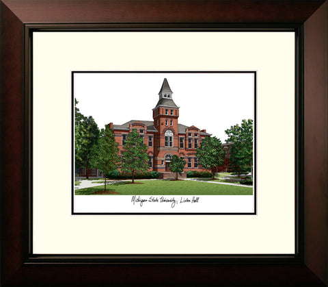 Michigan State University, Linton Hall,  Legacy Alumnus Framed Lithograph
