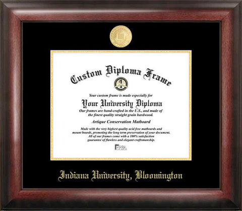 Indiana University, Bloomington 11w x 8.5h Gold Embossed Diploma Frame