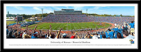 University of Kansas Jayhawks Framed Stadium Print