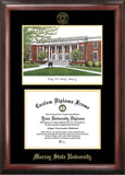 Murray State University 14w x 11h Gold Embossed Diploma Frame with Campus Images Lithograph