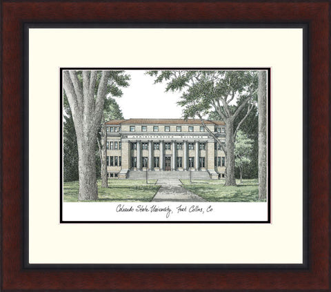 Colorado State University Legacy Alumnus Framed Lithograph