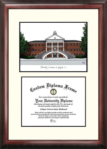 University of Louisiana-Lafayette 11w x 8.5h Scholar Diploma Frame