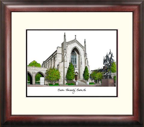 Boston University Alumnus Framed Lithograph