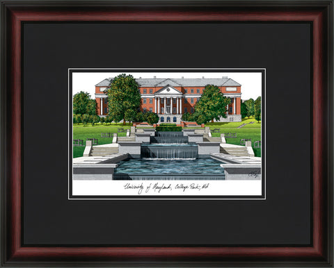 University of Maryland Academic Framed Lithograph