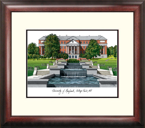 University of Maryland Alumnus Framed Lithograph