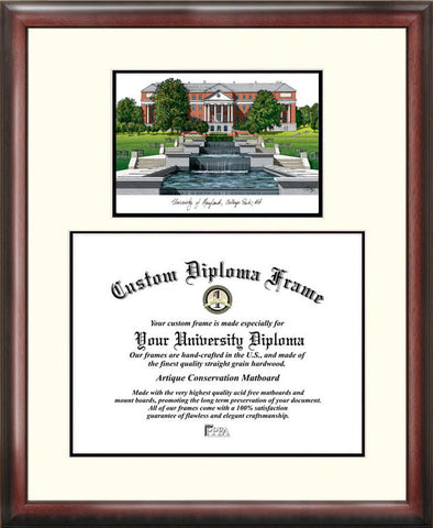 University of Maryland 17w x 13h Scholar Diploma Frame