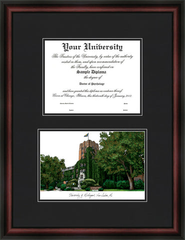 University of Michigan 11w x 8.5h Diplomate Diploma Frame