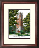 Michigan State Beaumont Hall University Alumnus Framed Lithograph
