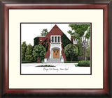 Michigan State Alumni Chapel University Alumnus Framed Lithograph