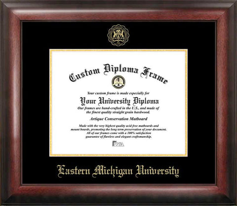 Eastern Michigan University 11w x 8.5h  Gold Embossed Diploma Frame