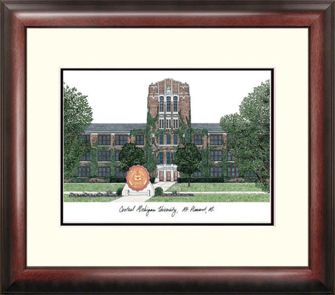 Central Michigan University Alumnus Framed Lithogrpah