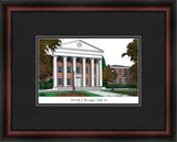 University of Mississippi Academic Framed Lithogrpaph