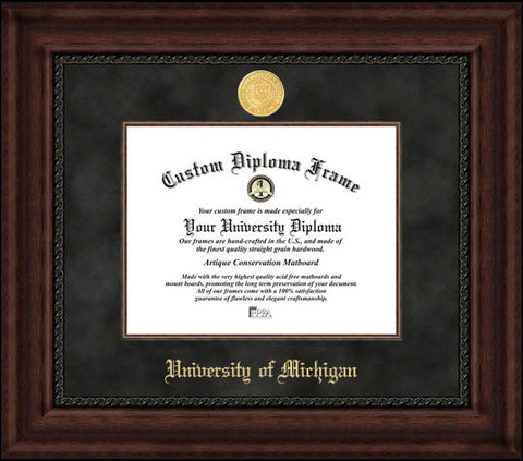University of Michigan 11w x 8.5h  Executive Diploma Frame