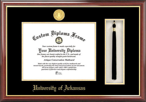 University of Arkansas  11w x 8.5h Tassel Box and Diploma Frame