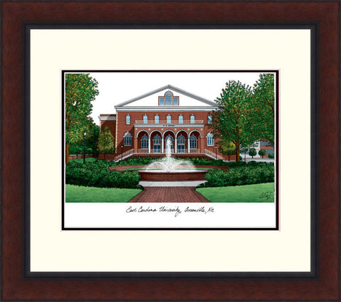 East Carolina Legacy Alumnus Framed Lithograph