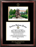 University of North Carolina, Charlotte 14w x 11h Gold Embossed Diploma Frame with Campus Images Lithograph