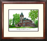 University of New Hampshire Alumnus Framed Lithograph