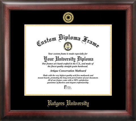 Rutgers University,The State University of New Jersey, 11w x 8.5h Gold Embossed Diploma Frame