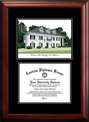 McNeese State University 11w x 8.5h Diplomate Diploma Frame